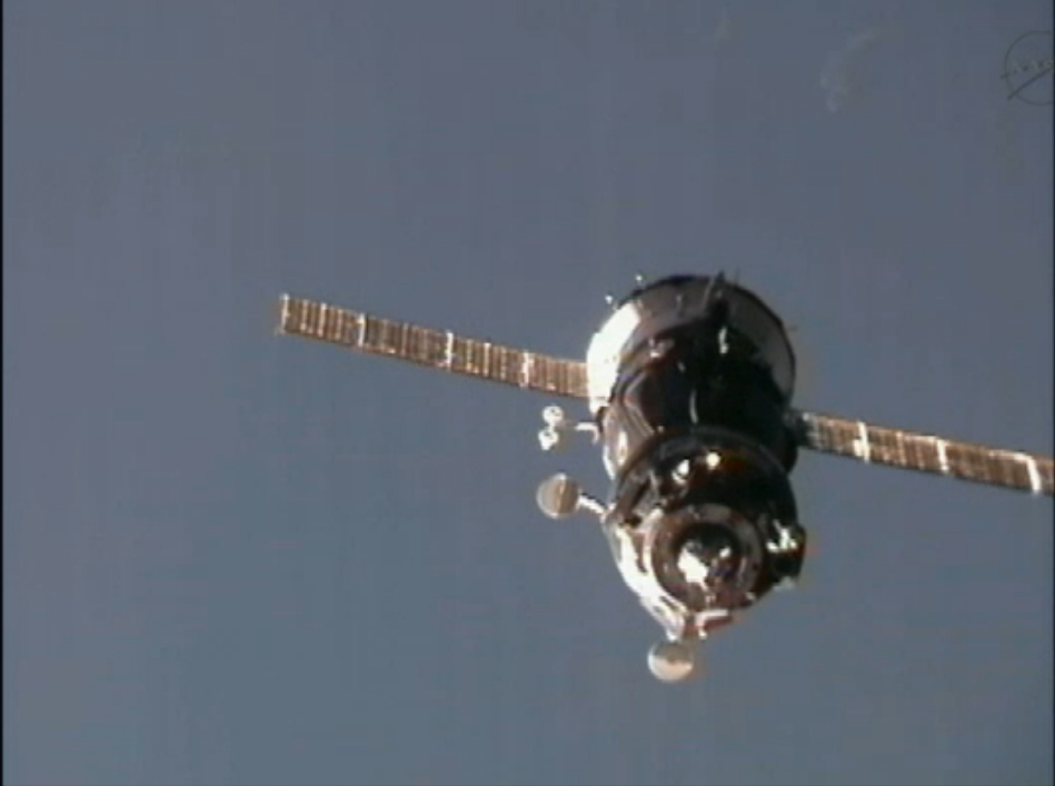 Expedition 30 New Crew Arrives Over Mediterranean