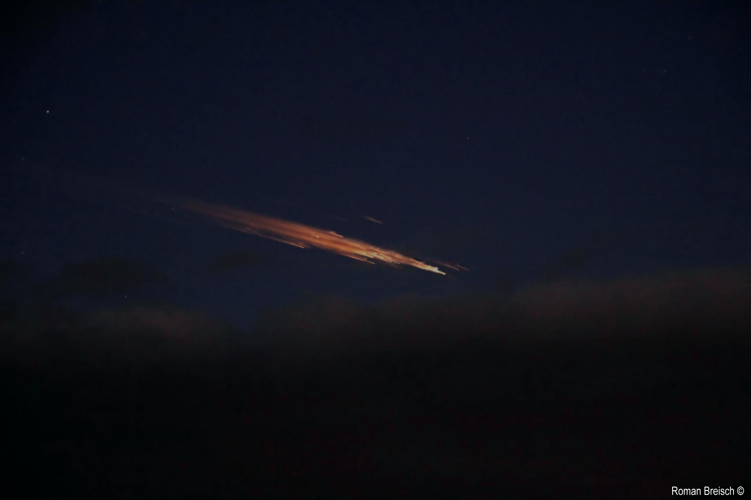 Christmas Eve Fireball by Rocket Debris