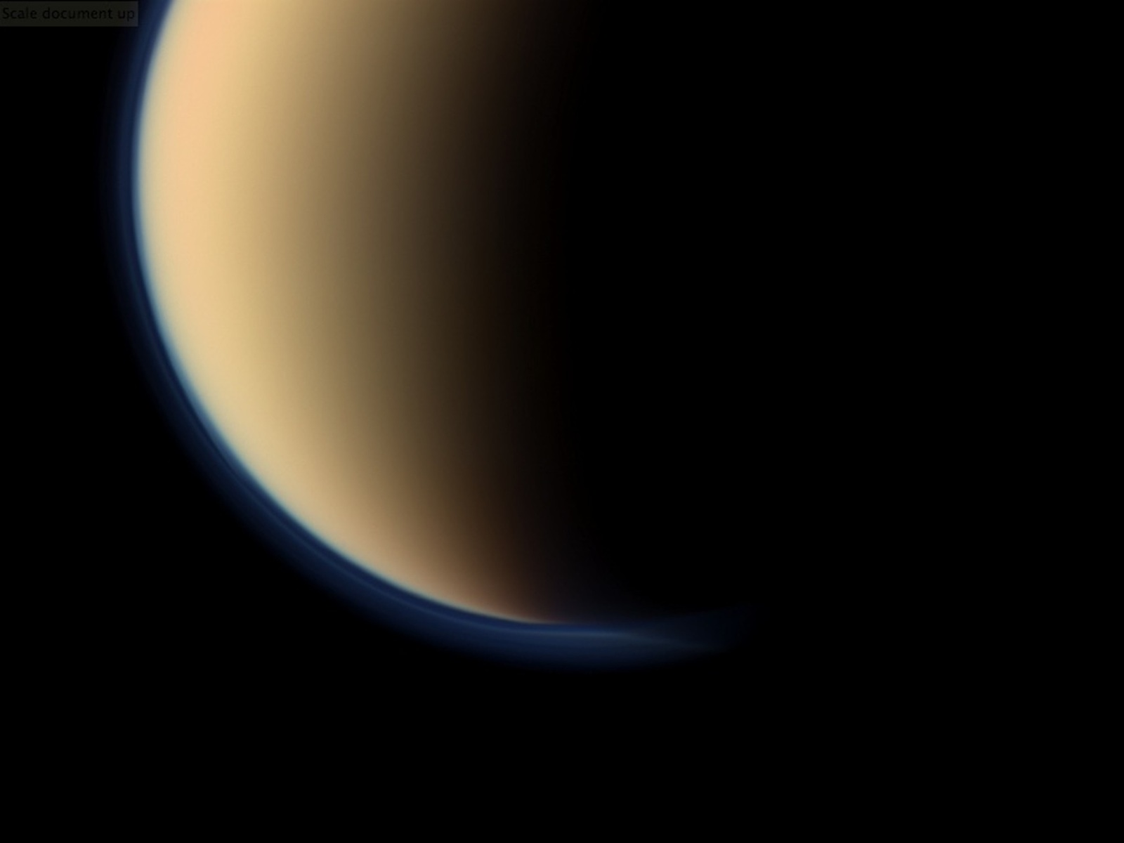 Titan's Orangey Blue Haze Up Close