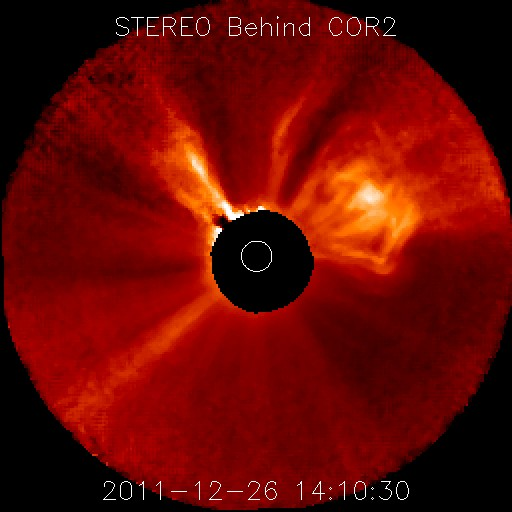 NASA's STEREO Spacecraft Records CME on Dec. 26, 2011