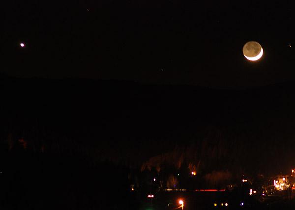 Venus & the Moon: Truckee Lights