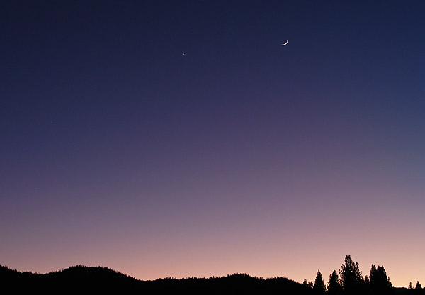 Venus & the Moon by David Smoyer