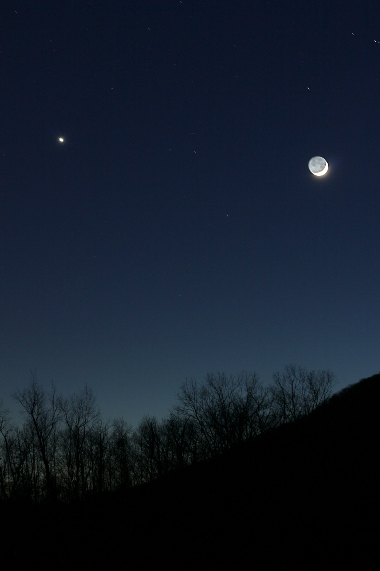 Venus & the Moon Over Kent, CT