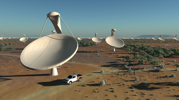 Artist's impression of the SKA dishes.