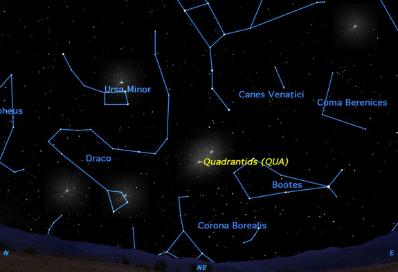 The Quadrantids, one of the three best meteor showers of the year, reach their peak with an zenithal hourly rate of 120 meteors per hour.