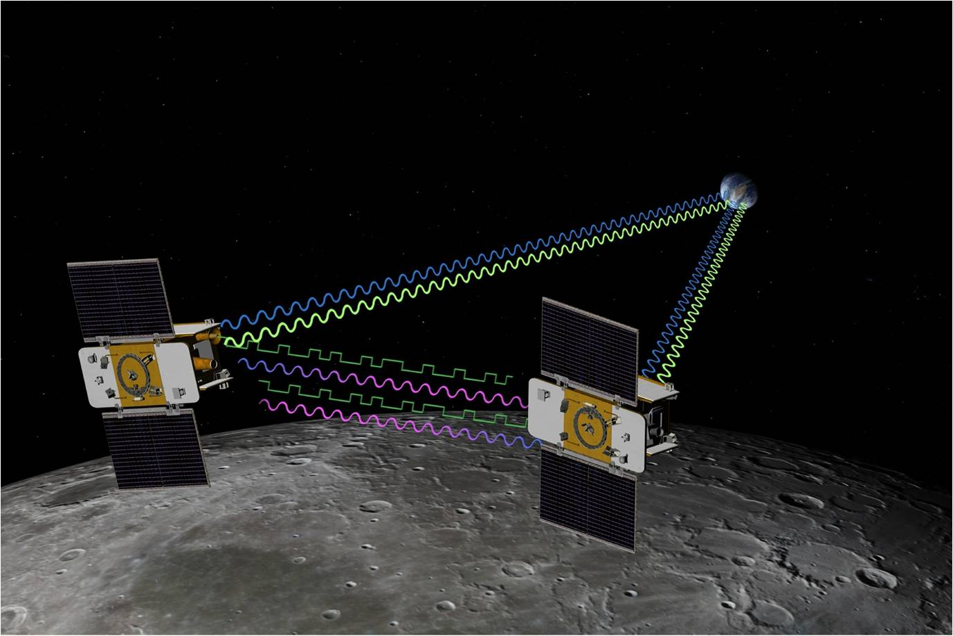Twin NASA Moon Probes Begin Mapping Lunar Gravity