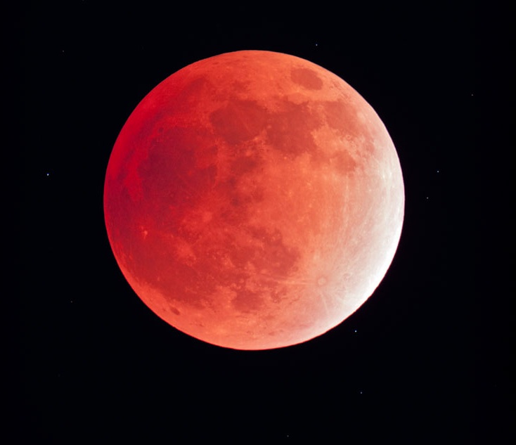 Red Moon from Zagros Mountains