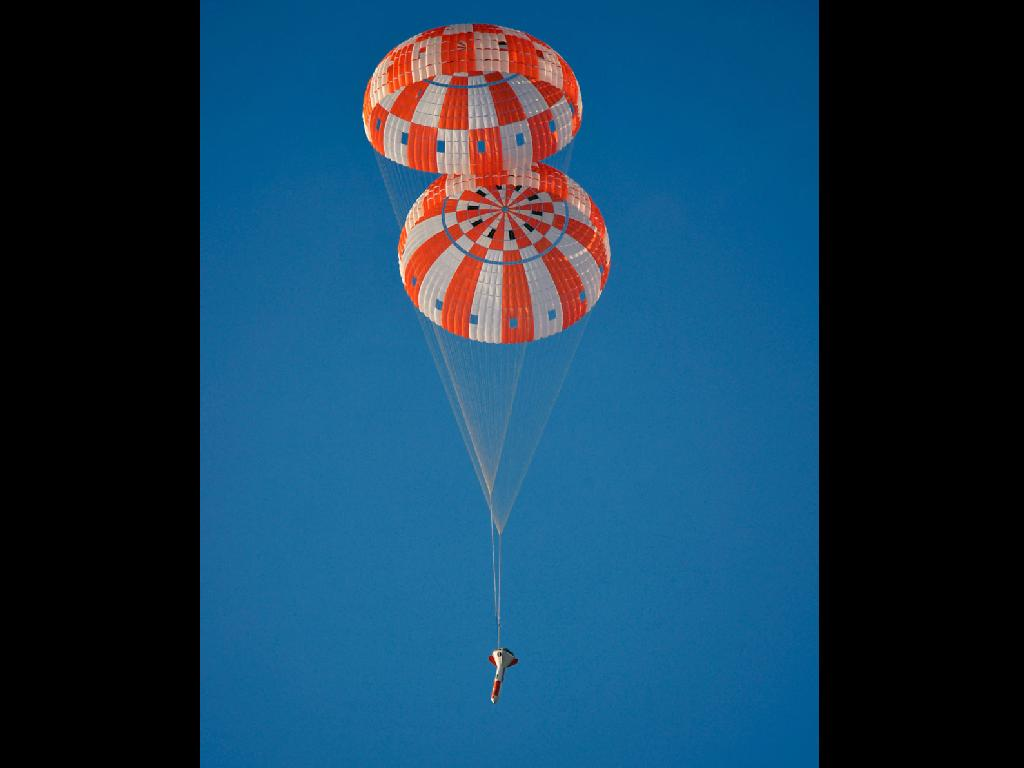 NASA Tests Parachutes for New Deep Space Capsule
