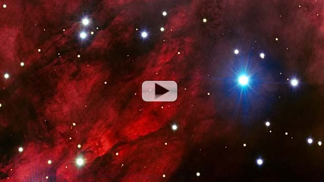 Nebula's Super-Heated Red Glow Radiates In New Image