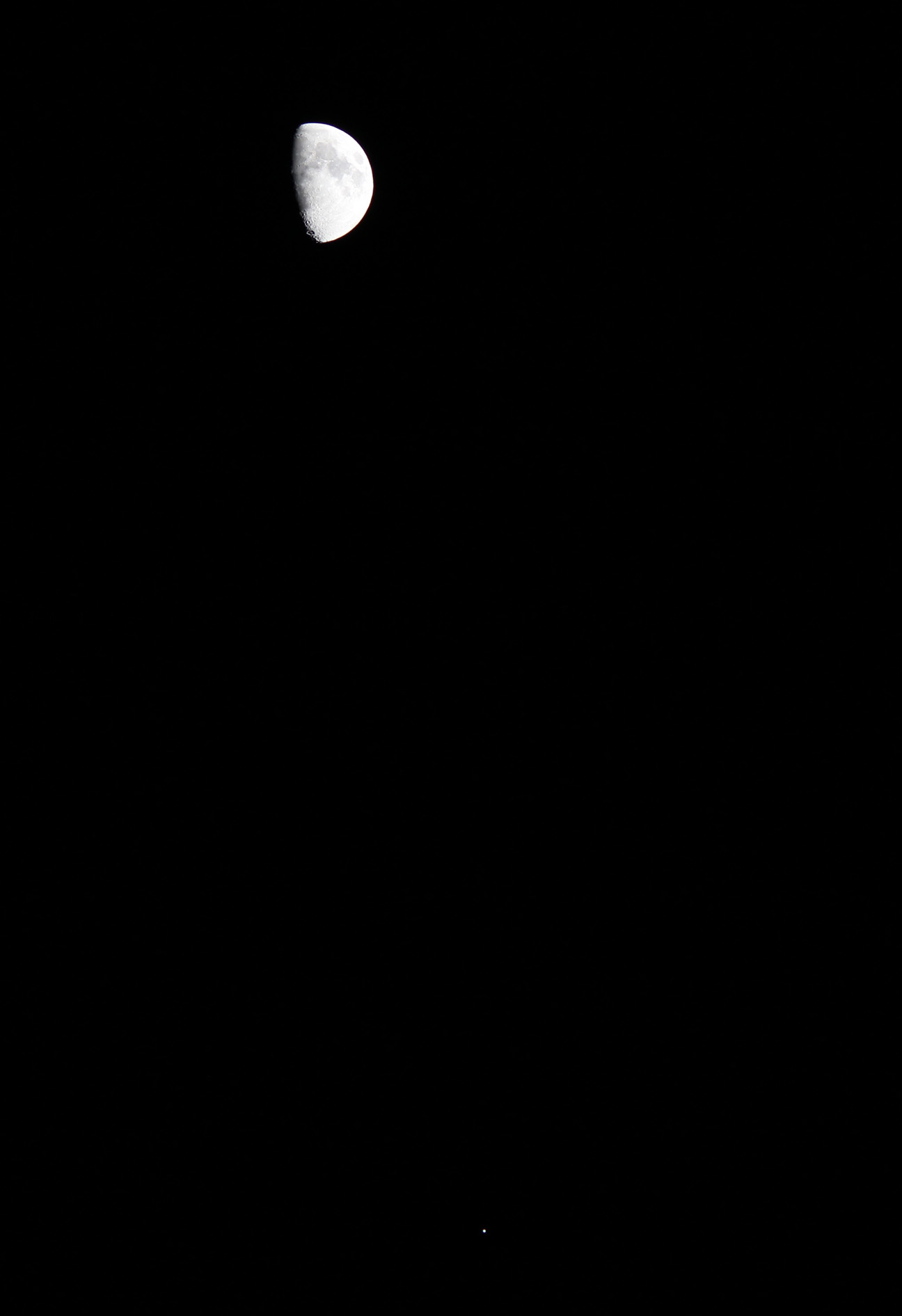 Moon and Jupiter and GRAIL Spacecraft