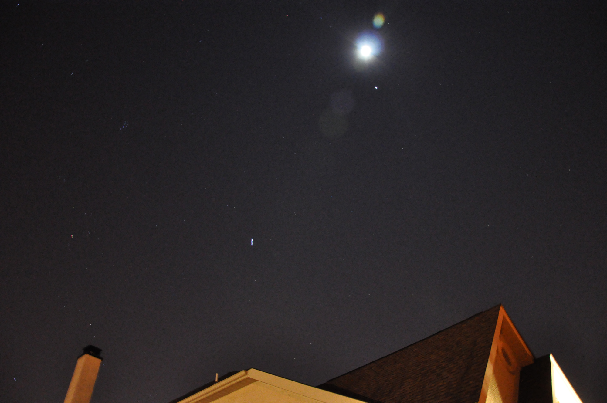 Moon, Jupiter and ISS over Hockessin, DE