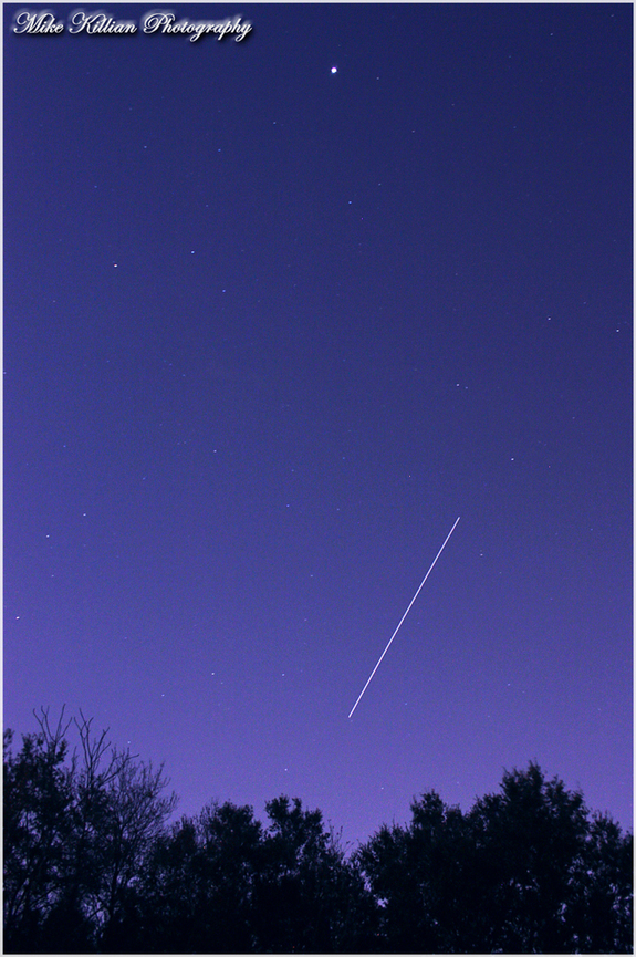"Astrophotographer Mike Killian caught the ISS on Jan. 5, 2012, and wrote: ""ISS made a 6 minute pass over central FL last night, viewing conditions were perfect."""