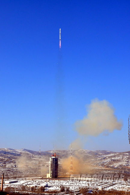On January 9, 2012, China's civil satellite Ziyuan 3 launched from the Taiyuan Satellite Launch Center.