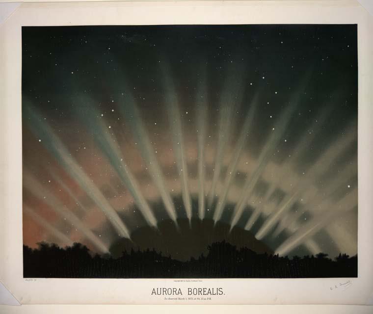 Artistic Astronomy Aurora Borealis