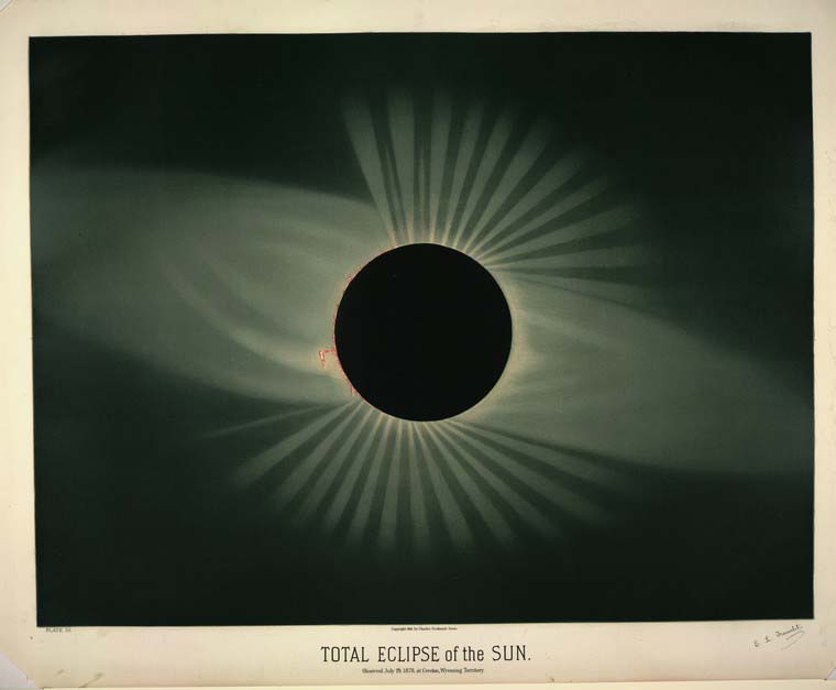 Total eclipse of the sun by Trouvelot