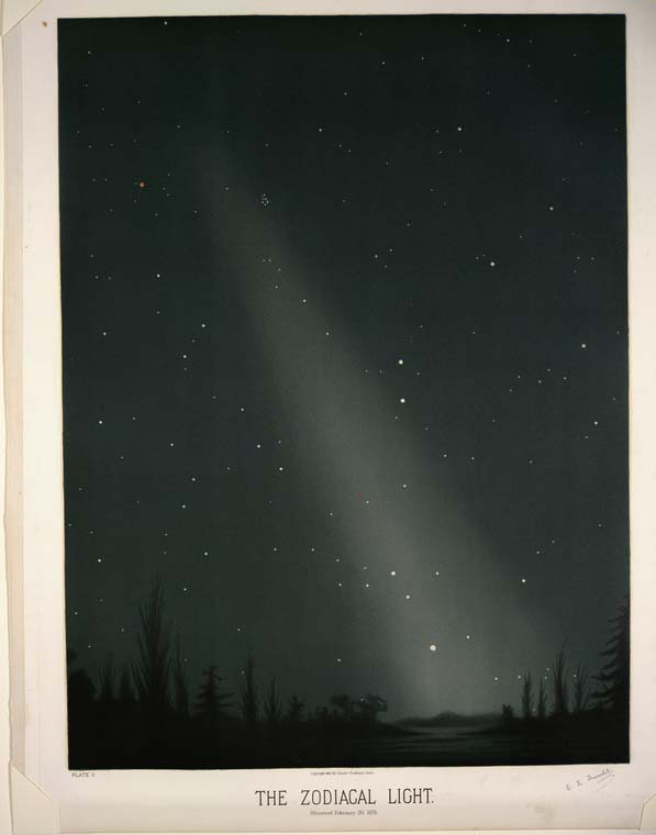 Zodiacal Light by Trouvelot