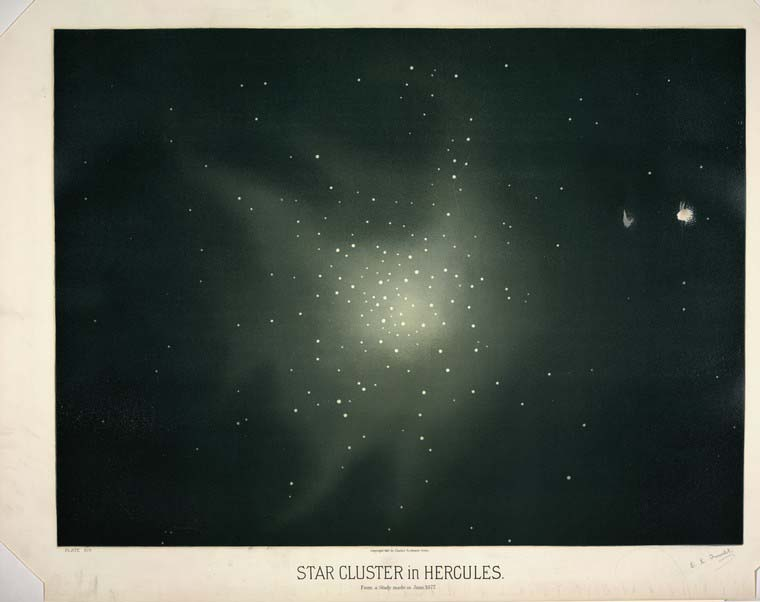 Star Cluster in Hercules by Trouvelot