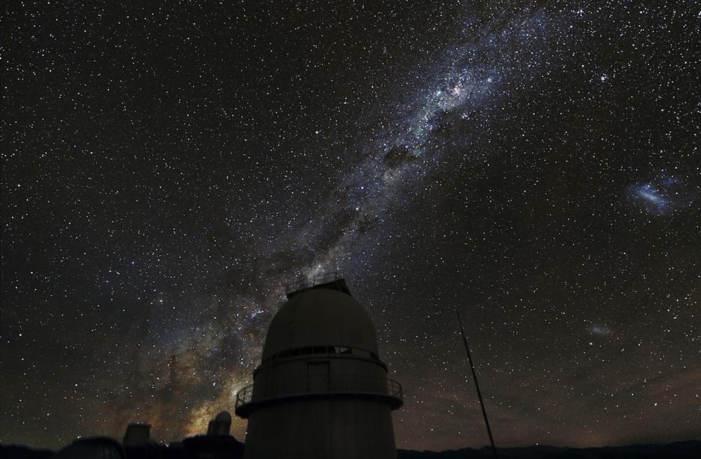 The Milky Way over the 1.54-Meter Danish Telescope at La Silla