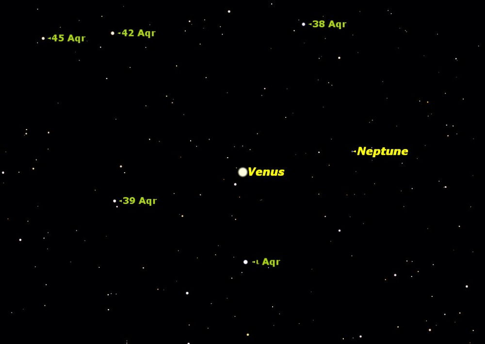 Planets Venus & Neptune to Appear Side-by-Side on Friday