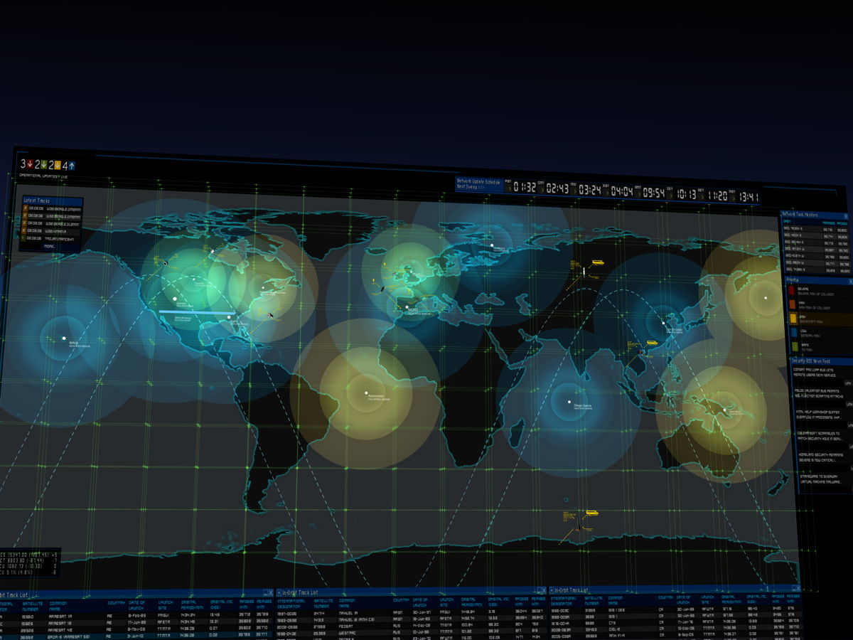 US Space Surveillance Animation: Wide Shot