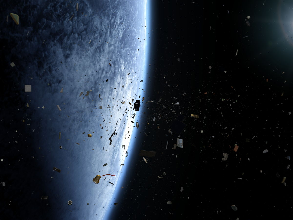 Illustration of a Space Debris Field