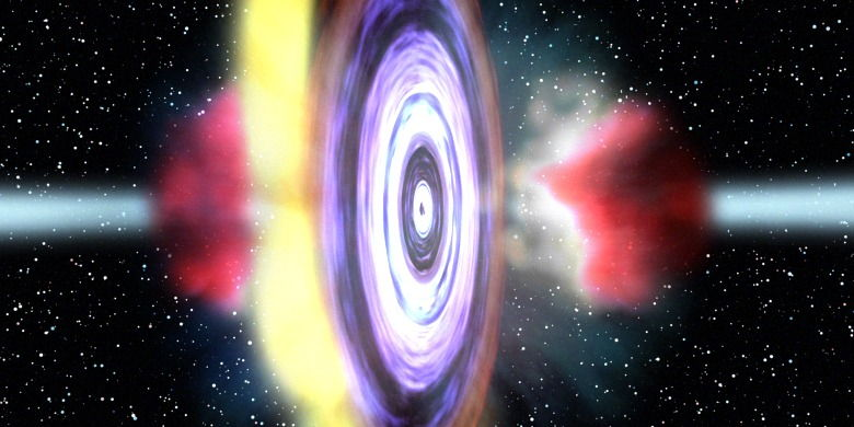 Black Hole Fires Gas 'Bullets' Into Space
