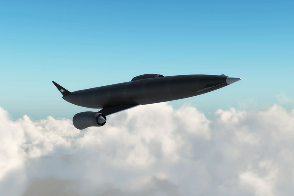 Skylon Space Plane Under Jet Power