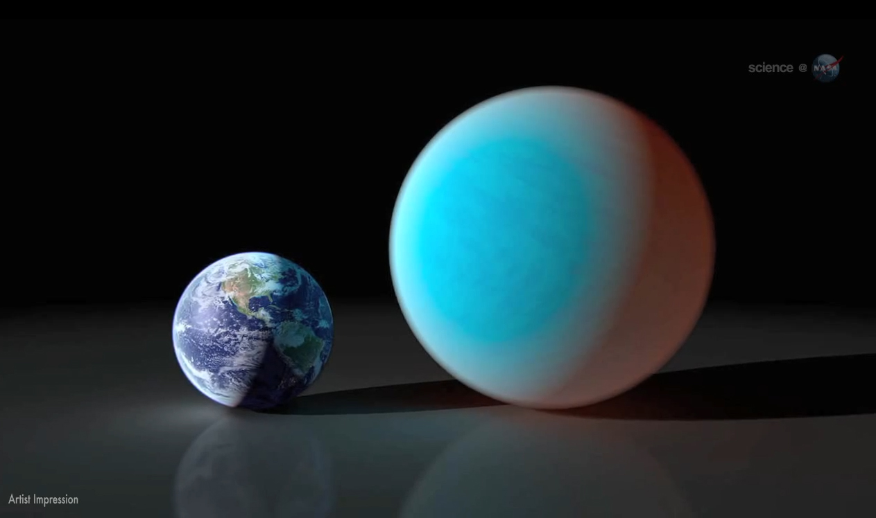 Alien Planet 55 Cancri e - Comparison with Earth