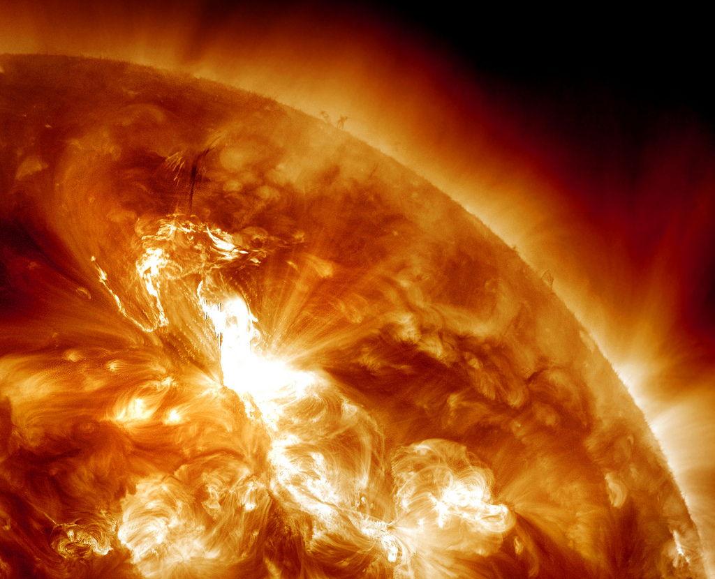 Huge Solar Eruption Sparks Strongest Radiation Storm in 7 Years