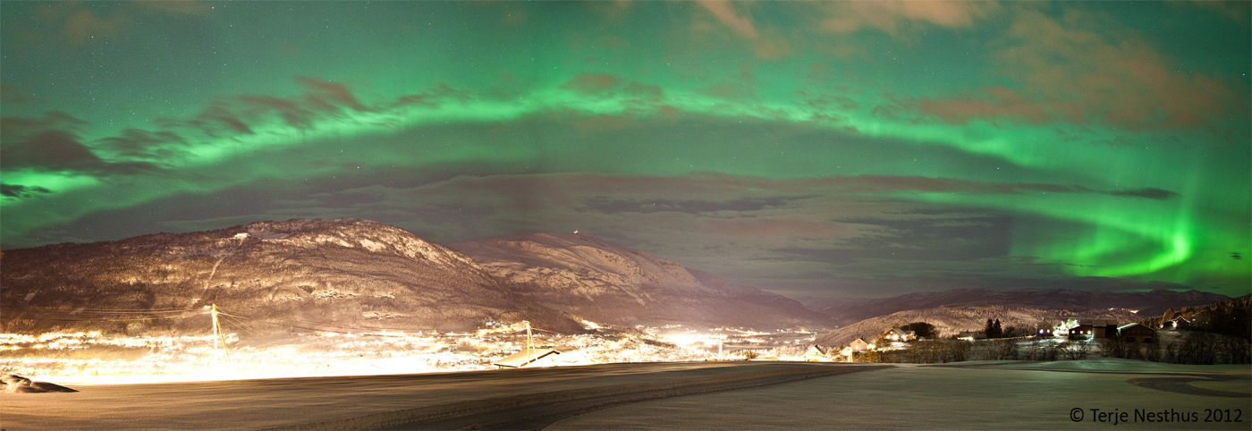Aurora over Voss, Norway, January 22, 2012