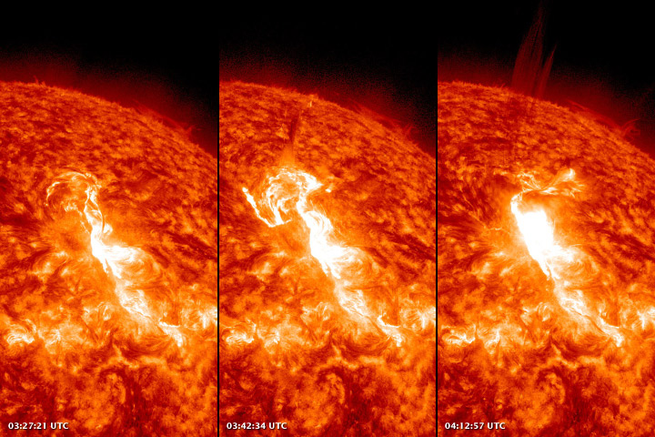 Huge Solar Flare Seen by Solar Dynamics Observatory - January 23, 2012