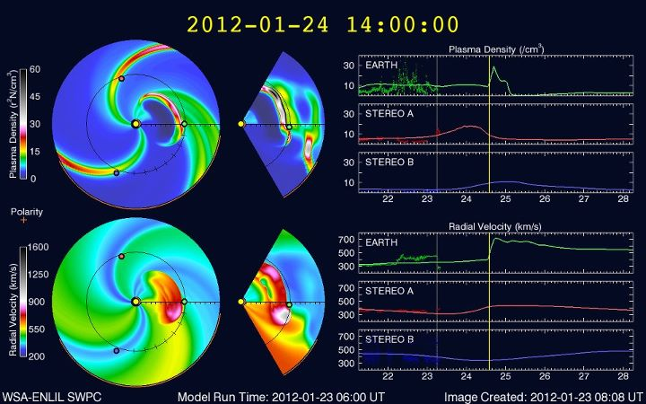 Solar Flare & Coronal Mass Ejection - Jan. 23, 2012