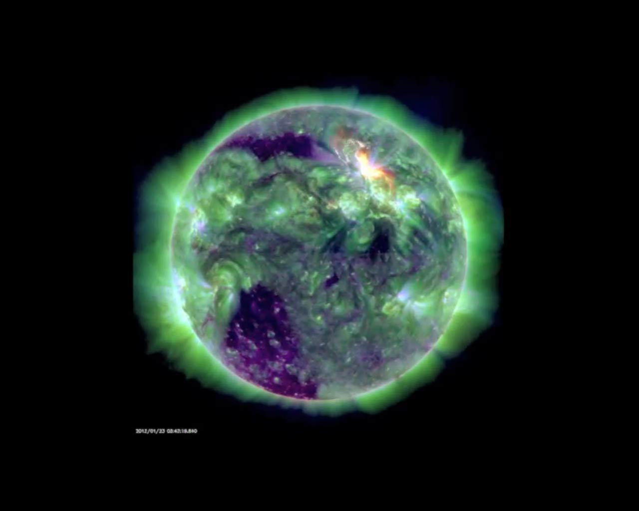 Solar Flare Captured by Solar Dynamics Observatory