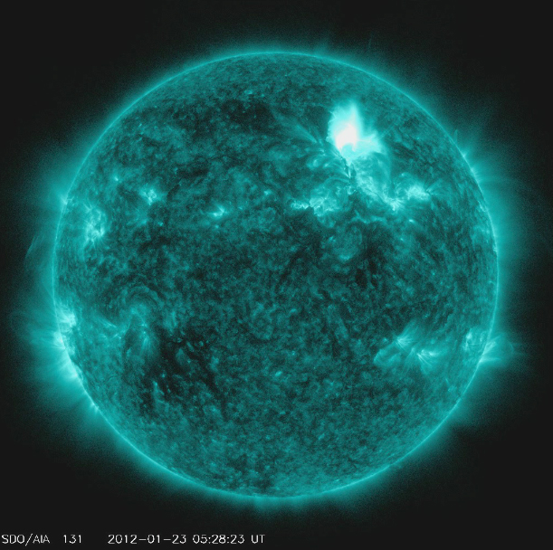 Solar Flare Seen by NASA's Solar Dynamics Observatory
