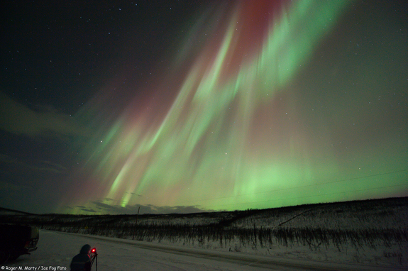 Astrophotographer Roger M. Marty snapped the aurora north of Poker Flats, Alaska, January 22, 2012.
