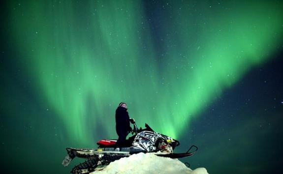 Astrophotographer Antti Pietikäinen took this aurora photo on Jan. 24, 2012 in Muonio, Lapland, Finland.