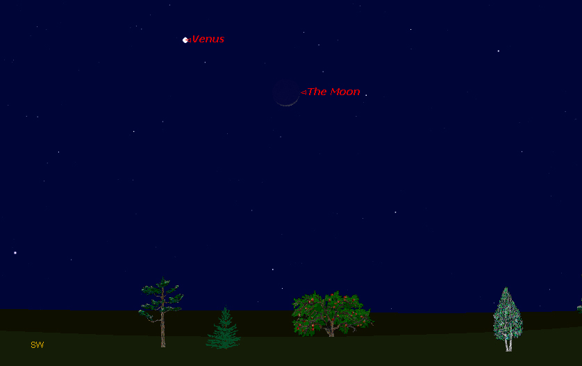 The Moon, Venus Reunite in Night Sky Wednesday