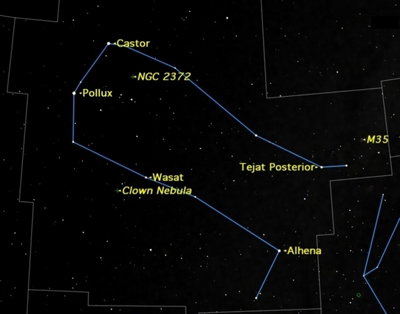 Gemini is a constellation high in the winter sky, containing a number of interesting observing targets.