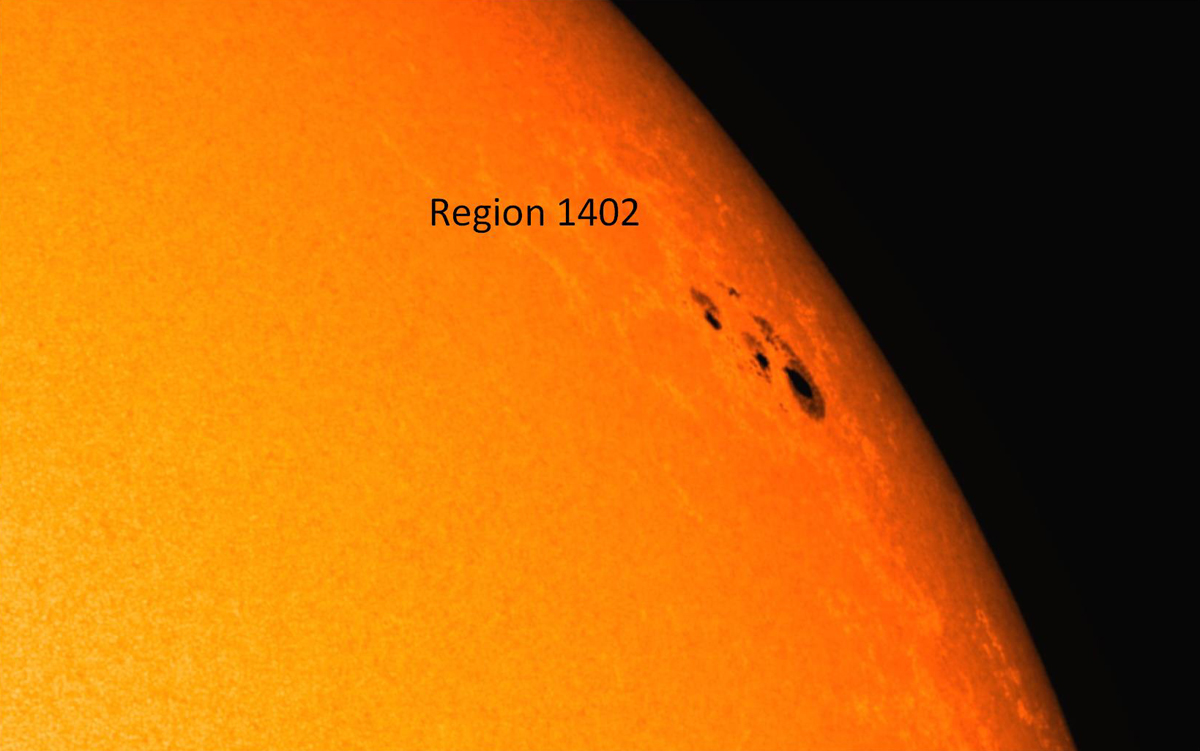 Sunspot Complex of Solar Region 1402