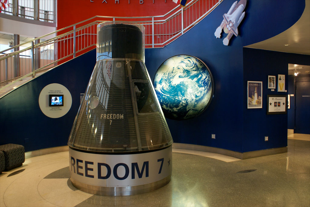 Freedom 7 Mercury Spacecraft on Display