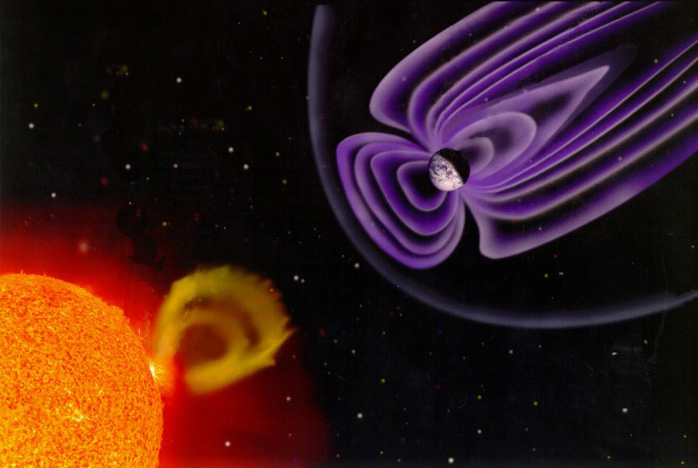 Our Planet's Killer Electrons Shoot Toward Space, Not Earth