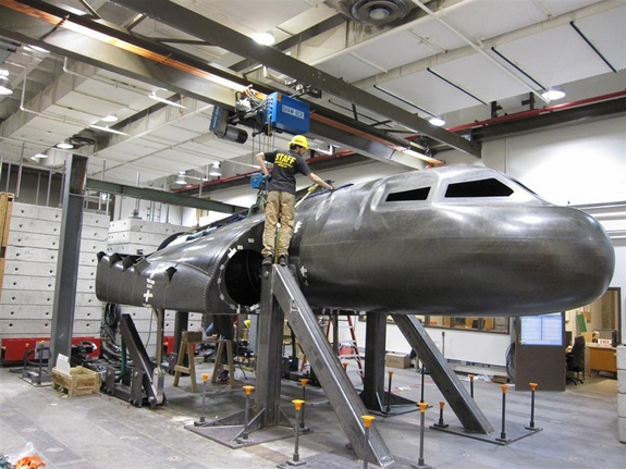 The Dream Chaser structural test article at the University of Colorado at Boulder, FAST Lab.