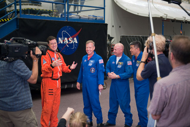 Stephen Colbert Visits NASA
