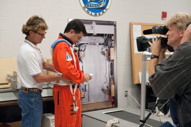 Stephen Colbert Trains at NASA