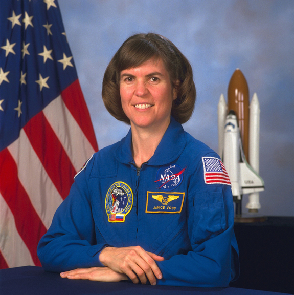 Astronaut Janice Voss, mission specialist of the STS-99 space shuttle mission.