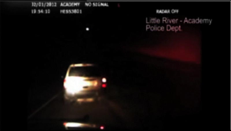 Fireball Over Texas Caught by Police Car Video Camera