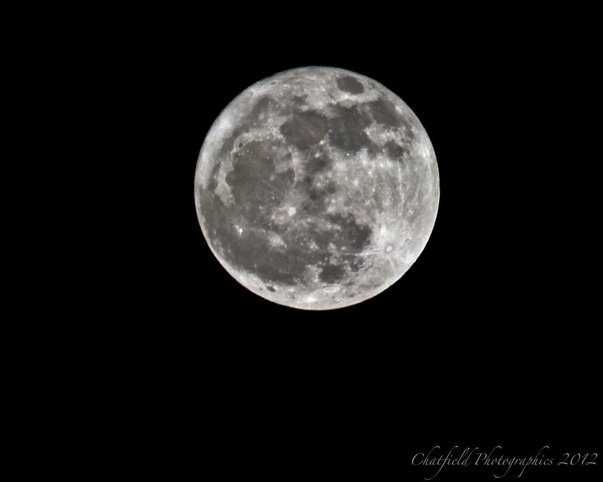 Full Moon over Saskatoon, Saskatchewan