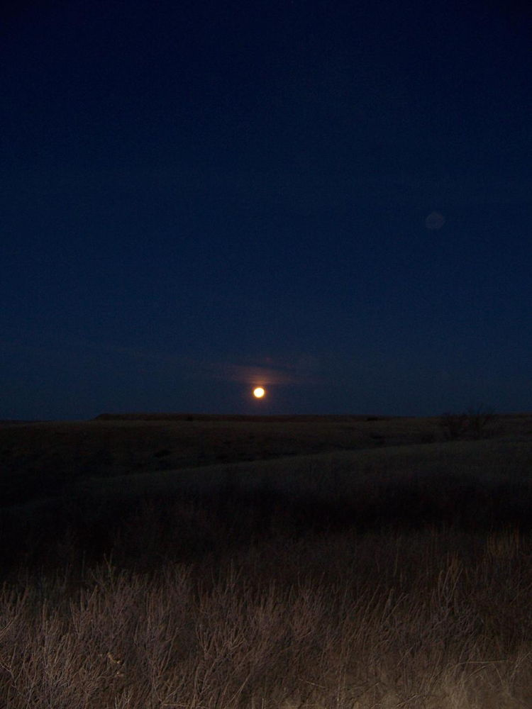 Full Moon over Butte, South Dakota
