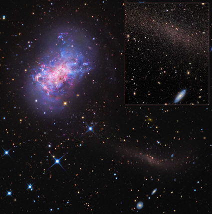 Small Twisted Galaxy Warped by Galactic 'Stealth Merger'
