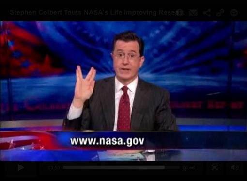 TV's Stephen Colbert Stars in NASA Video for Space Fans
